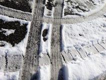 Caminhões do pneu na neve Foto de Stock