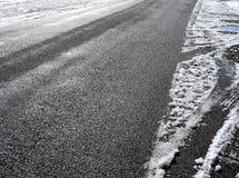 Caminhões do pneu na neve Fotografia de Stock Royalty Free