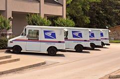 Caminhões do serviço postal do Estados Unidos fotos de stock royalty free
