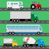 Caminhões do vetor Fotografia de Stock