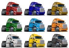 Caminhões dos desenhos animados ajustados ilustração stock