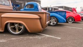 Caminhões e carros, associação SEMA do mercado do equipamento da especialidade, Fotos de Stock Royalty Free