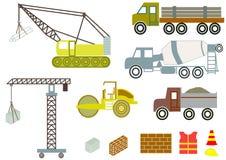 Caminhões e equipamento da construção Imagem de Stock