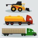 Caminhões industriais do frete do transporte ilustração do vetor