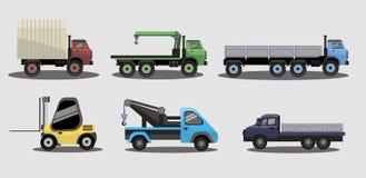 Caminhões industriais do frete do transporte fotos de stock