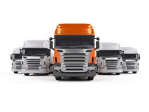 Caminhões isolados no branco Foto de Stock