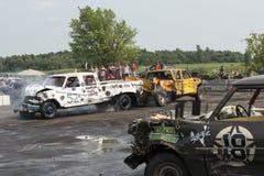 Caminhões na ação Fotos de Stock Royalty Free