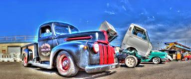 Caminhões novos e velhos Fotos de Stock Royalty Free