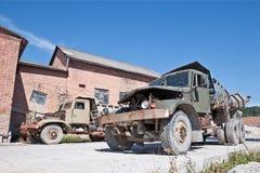 Caminhões quebrados abandonados Fotografia de Stock Royalty Free