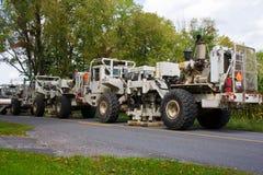 Caminhões sísmicos Fotografia de Stock
