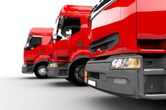 Caminhões vermelhos Fotos de Stock Royalty Free