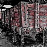 Caminhões vermelhos de carvão Foto de Stock Royalty Free