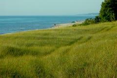 A caminhada à costa Fotografia de Stock