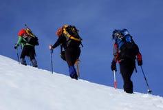 Caminhada alpina Imagens de Stock Royalty Free
