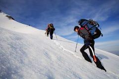Caminhada alpina Fotografia de Stock