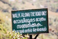 Caminhada ao longo da estrada somente Fotografia de Stock Royalty Free