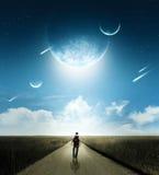 Caminhada com cometas imagem de stock royalty free