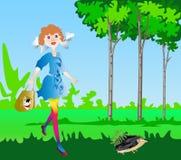 Caminhada com o hedgehog Imagem de Stock Royalty Free