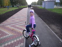 Caminhada da bicicleta Foto de Stock