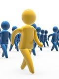 Caminhada da equipe Imagem de Stock