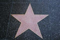 Caminhada da estrela do espaço em branco da fama Fotos de Stock Royalty Free