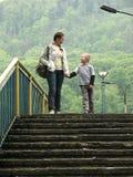 Caminhada da família Imagem de Stock