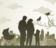 Caminhada da família ilustração stock