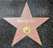 Caminhada da fama - Bruce Lee de Hollywood foto de stock