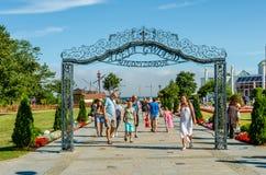 Caminhada da fama em Miedzyzdroje, Polônia imagem de stock