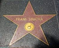 Caminhada da fama - Frank Sinatra de Hollywood Fotos de Stock