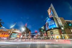 Caminhada da fama, Hollywood Fotos de Stock Royalty Free