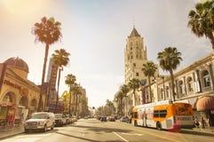 Caminhada da fama - Los Angeles Califórnia de Hollywood Foto de Stock