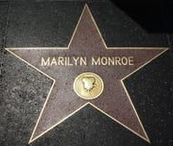 Caminhada da fama - Marilyn Monroe de Hollywood Imagens de Stock