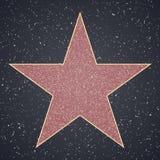 Caminhada da fama molde vazio da estrela ilustração royalty free
