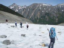 Caminhada da geleira de Laughton Fotografia de Stock Royalty Free
