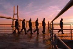 Caminhada da manhã Imagem de Stock