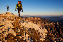 Caminhada da montanha Fotografia de Stock Royalty Free