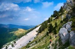 Caminhada da montanha fotografia de stock