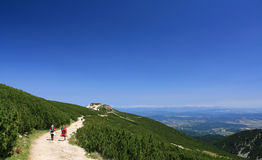 Caminhada da montanha, montanha de Rila Foto de Stock