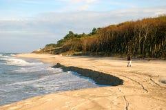 Caminhada da praia. imagens de stock royalty free