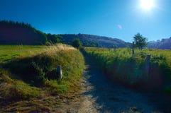 Caminhada da tarde através de uma vila em Lugo foto de stock royalty free