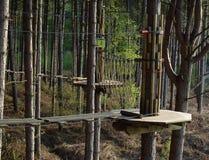 Caminhada de corda Imagem de Stock