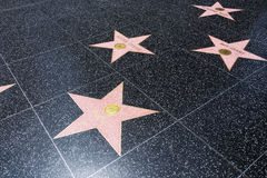 Caminhada de estrelas da fama Foto de Stock Royalty Free