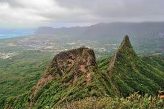 Caminhada de Havaí Ridge Foto de Stock