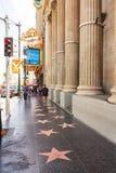Caminhada de Hollywood da fama Imagens de Stock