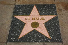 Caminhada de Hollywood da fama - o Beatles foto de stock