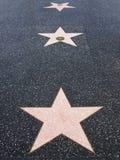 Caminhada de Hollywood de estrelas da fama Foto de Stock Royalty Free
