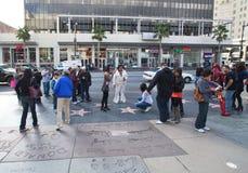 Caminhada de Hollywood de pegadas da fama Foto de Stock
