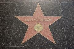CAMINHADA DE MARILYN MONROE DA FAMA Fotografia de Stock