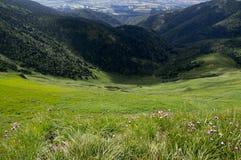 Caminhada de Ridge, montagem Maly Krivan a Chleb, Lesser Fatra, Eslováquia Foto de Stock